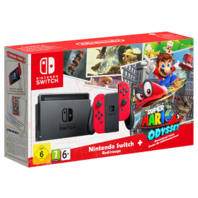 KONZOLA NINTENDO SWITCH + RED JOY-CON + SUPER MARIO ODYSSEY